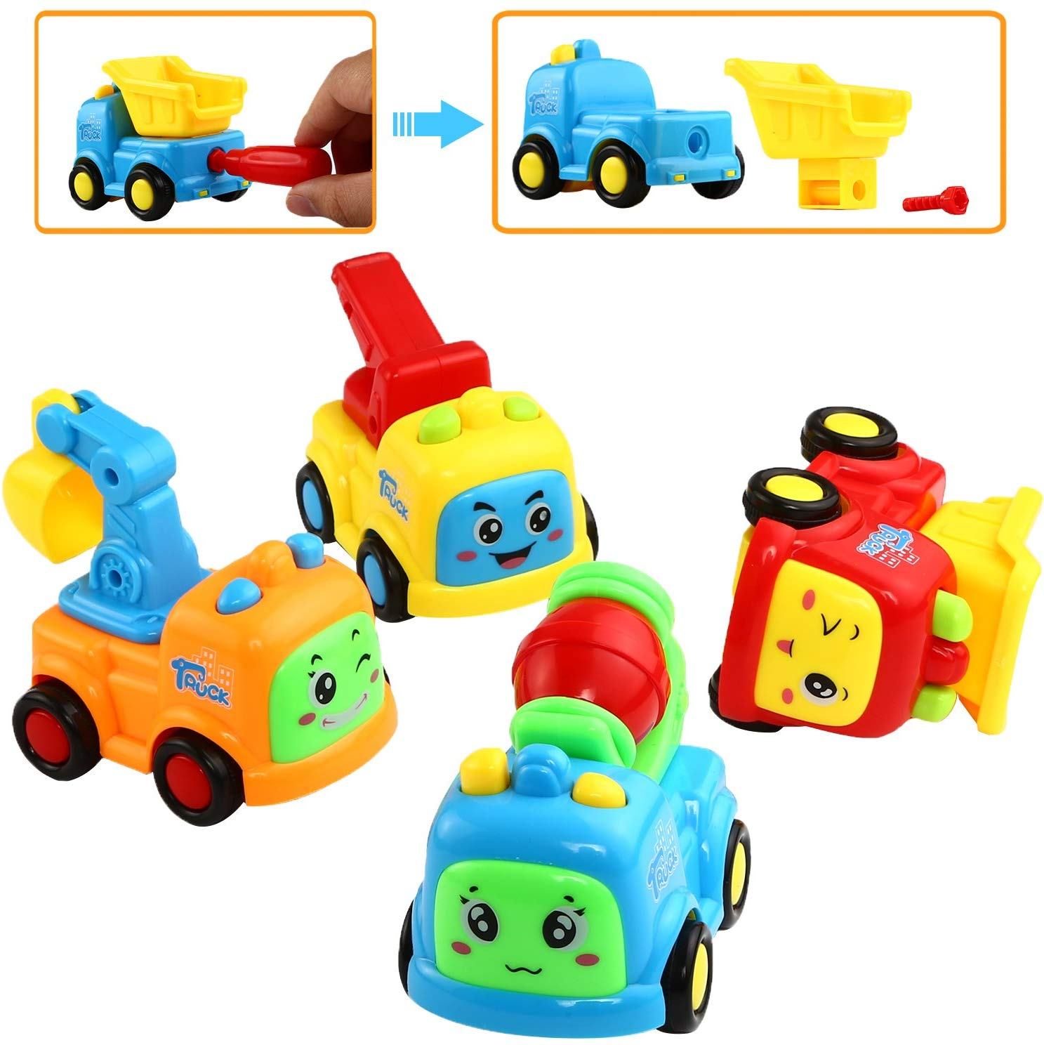 Friction Powered Cars and Push and Go Toy Trucks